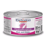 EXCLUSION CAT DIET HYPOALLERGENIC MAIALE E PATATE  LATTINA GR 85