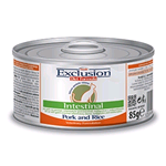 EXCLUSION DIET CAT INTESTINAL MAIALE E RISO LATTINA GR 85