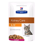 HILL'S CAT PRESCRIPTION DIET K/D MANZO BUSTA GR 85 (12 PZ)
